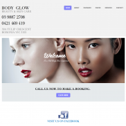 Body Glow Advanced Website